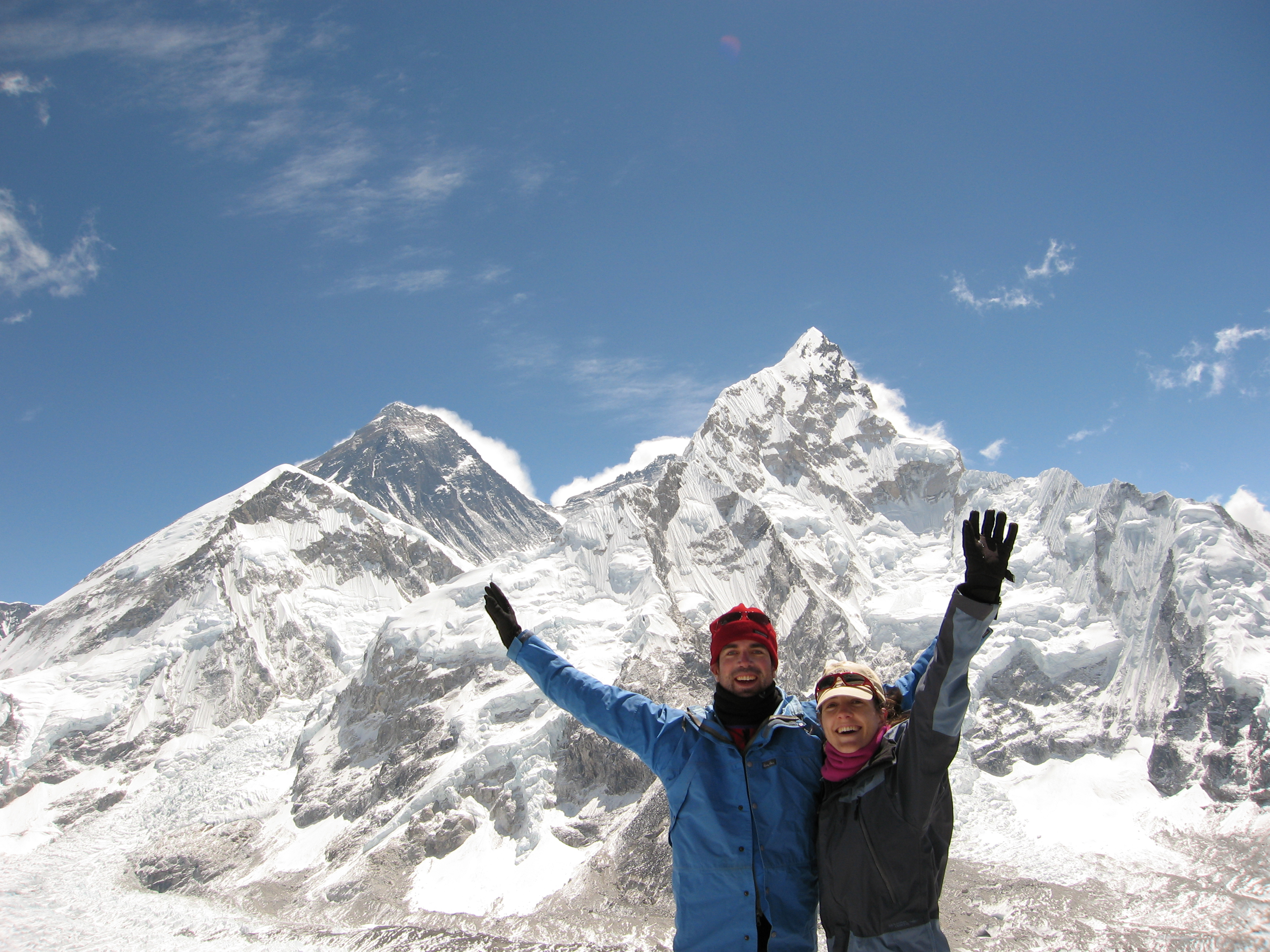 Chris and Bridge on Kala Patar after a special occasion. Photo by Passang Sherpa